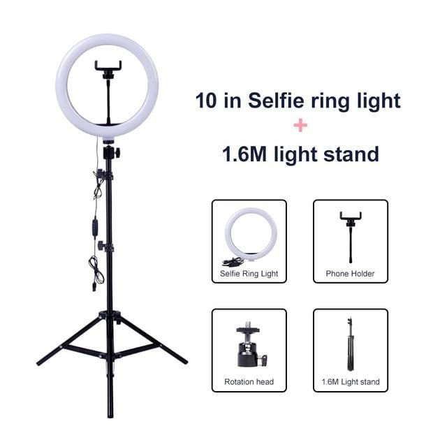 Dimmable LED Selfie Ring Light