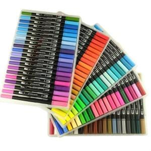 120 Color Dual Brush Art Markers