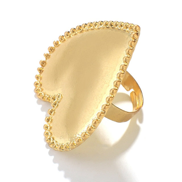Heart Gold Color Ring