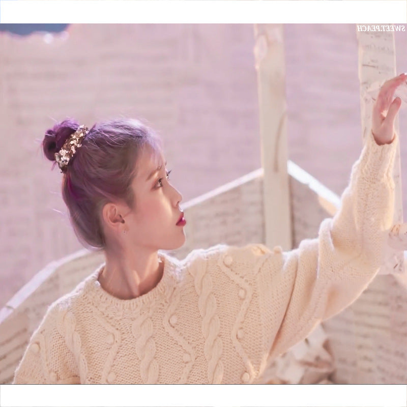 IU Lee Ji Eun Same Retro Sweater