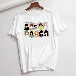 Anime Girls Casual T-shirt