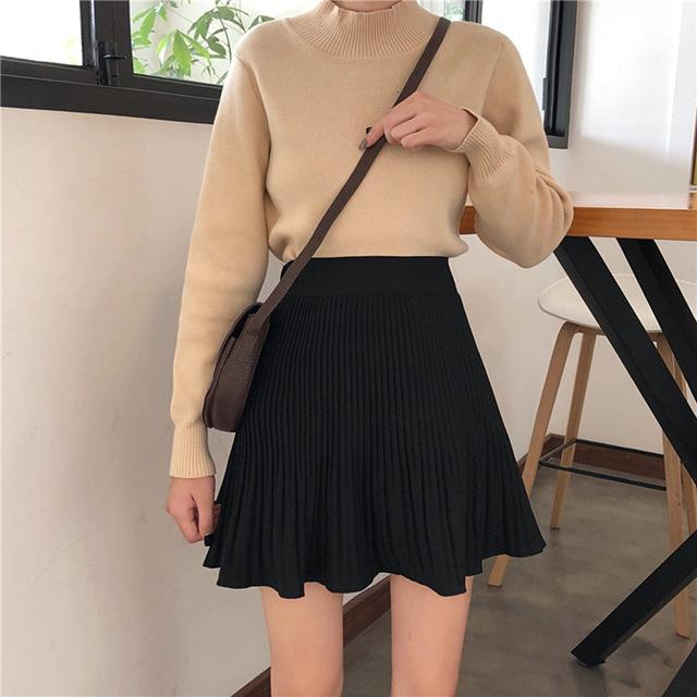 Casual Pleated Skirt