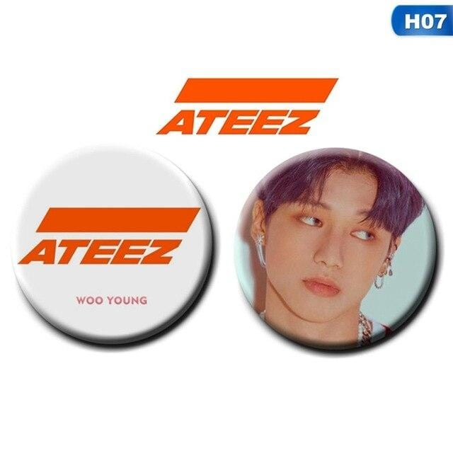 ATEEZ Badge Pins