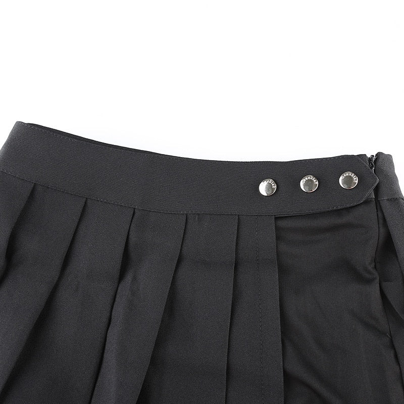 Goth Dark High Waist Mini Skirt