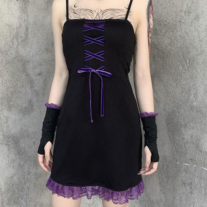 Vintage Bandage Gothic Lace Dress