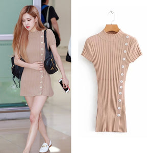 Blackpink Rose Mini Dress