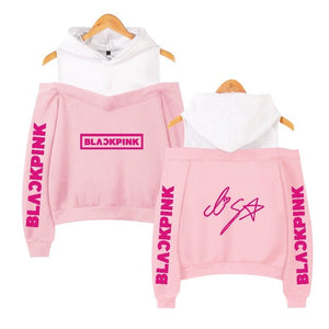 BLACKPINK Off Shoulder Hoodie