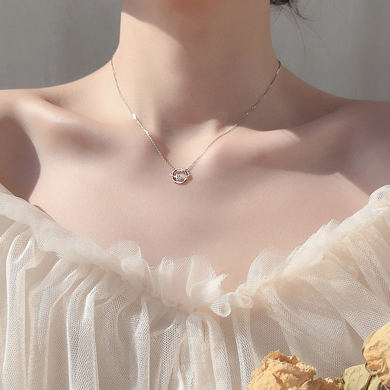 Universe Star Necklace Clavicle Chain Necklace