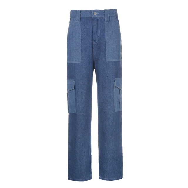 Preppy Style Straight Jeans