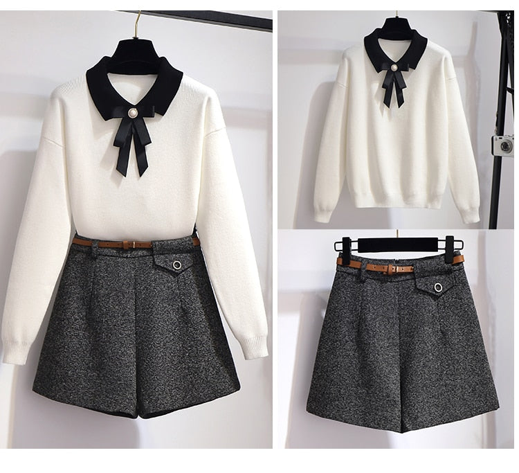 Chelsea Autumn Korean Style Top And Short Set