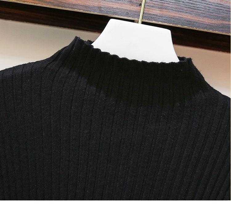 Maria Long Sleeve Black Sweater Deep Blue Sling Dress