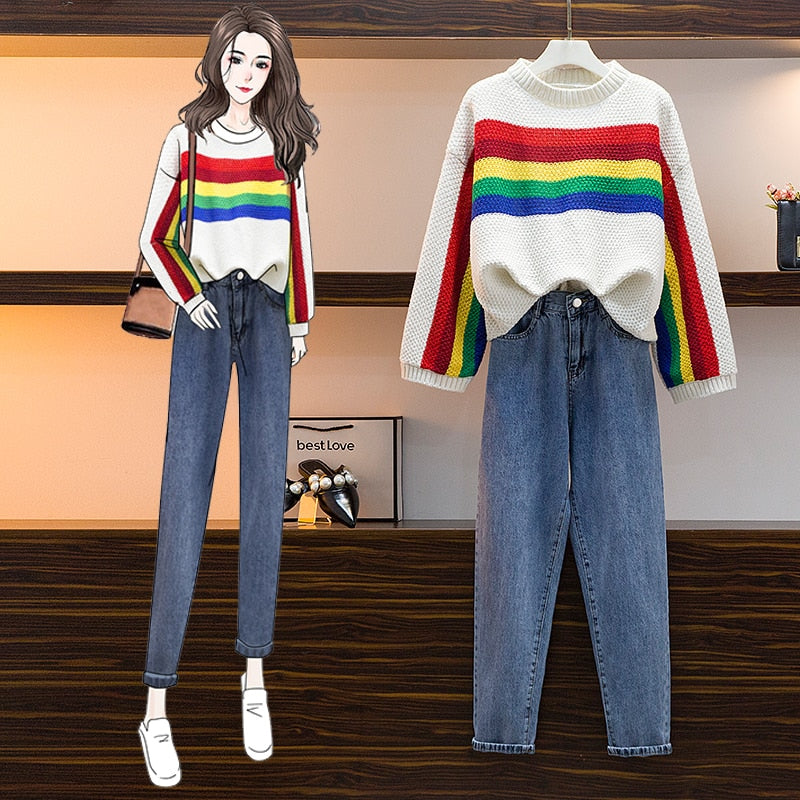 Rubi Winter Sweater + Long Jeans