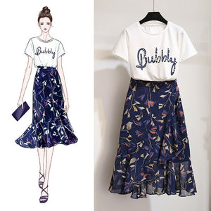 Bubbly 2 Piece Shirt + Skirt Set