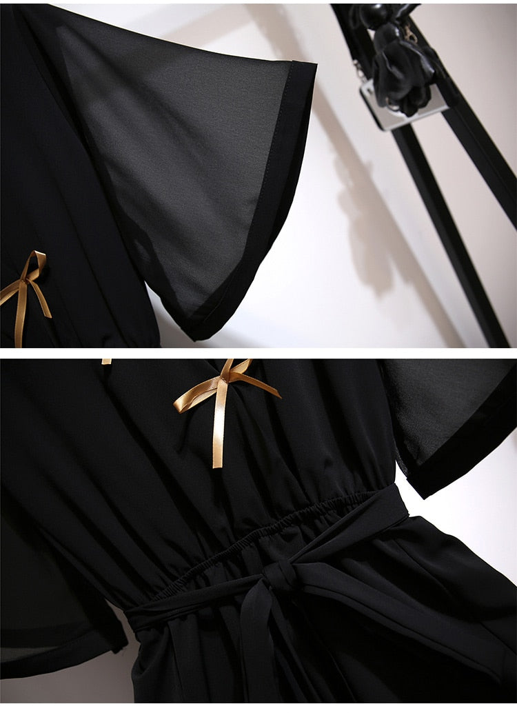 Penelope Black Chinese Style Dress