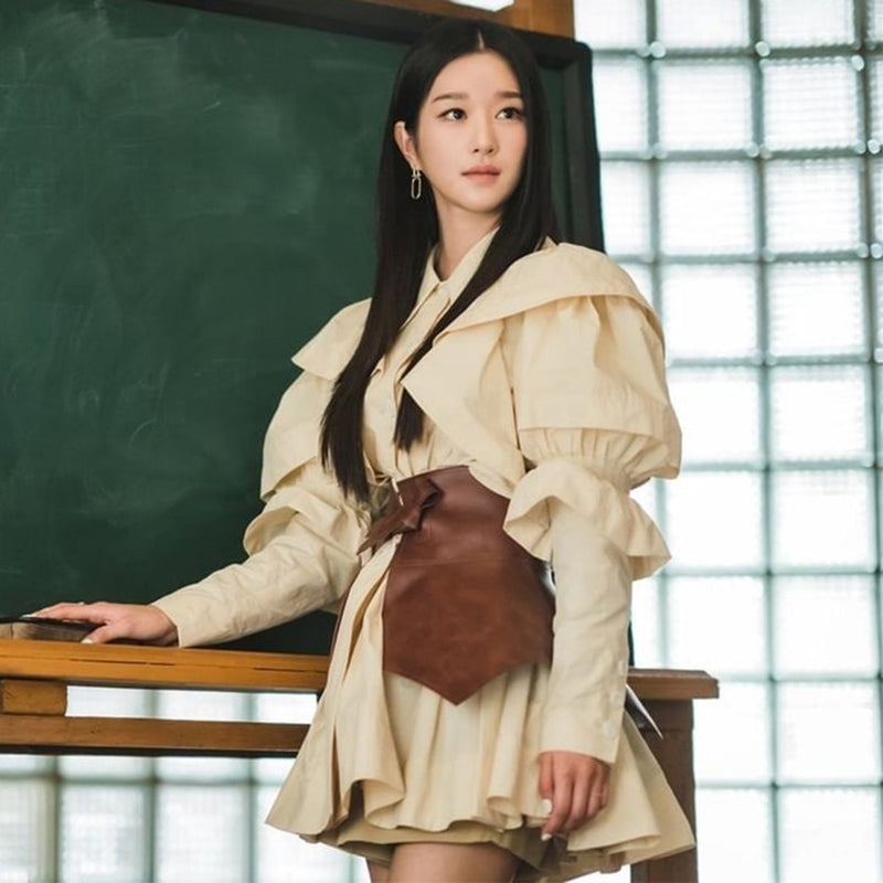 Seo Yea-ji Ruffles Lantern Sleeves  Dress