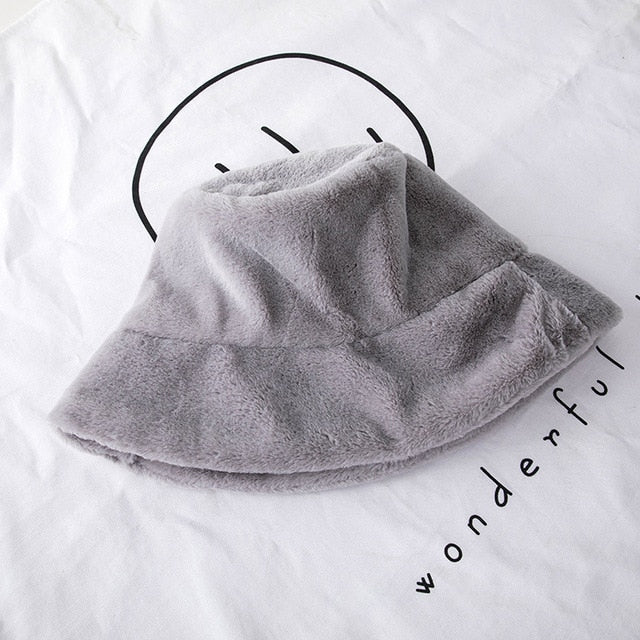 Fashion Faux Fur Winter Bucket Hat