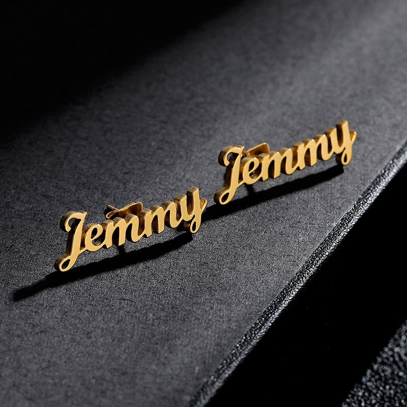 Personalized Name Stud Earring