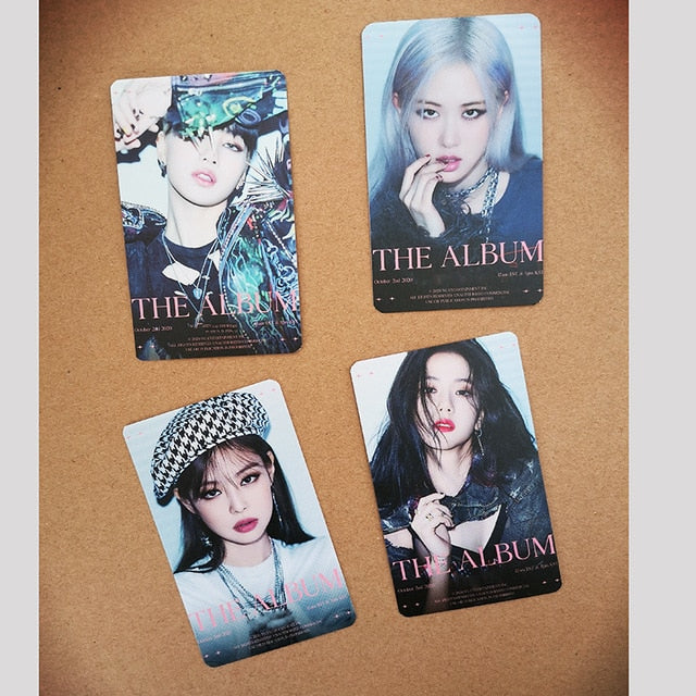 BLACKPINK The Album 4PCS/SET Double Sided LOMO Cards