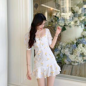 Rose High Waist Summer Dress