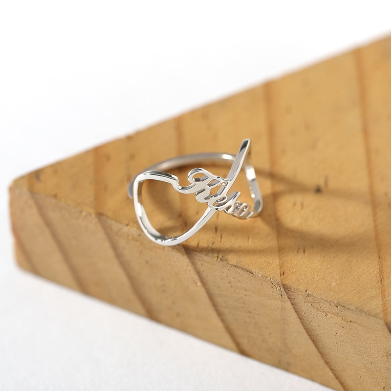 Personalized Boho Infinity Name Ring