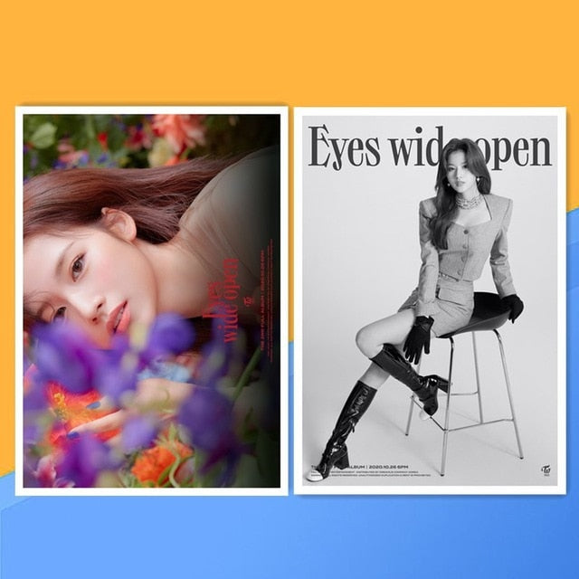TWICE New Album Eyes Wide Open Wall Poster Stickers (2 Posters/Set)