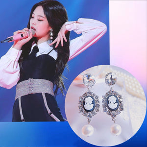 Blackpink Jennie Fashion Pearl Earrings