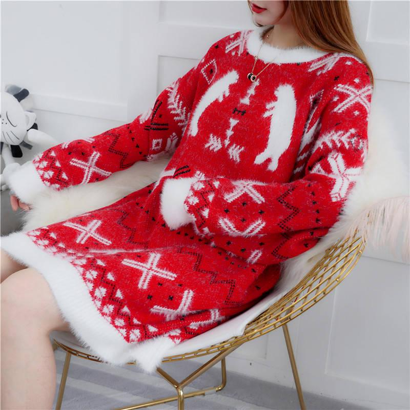 Christmas Loose Sweater Dress