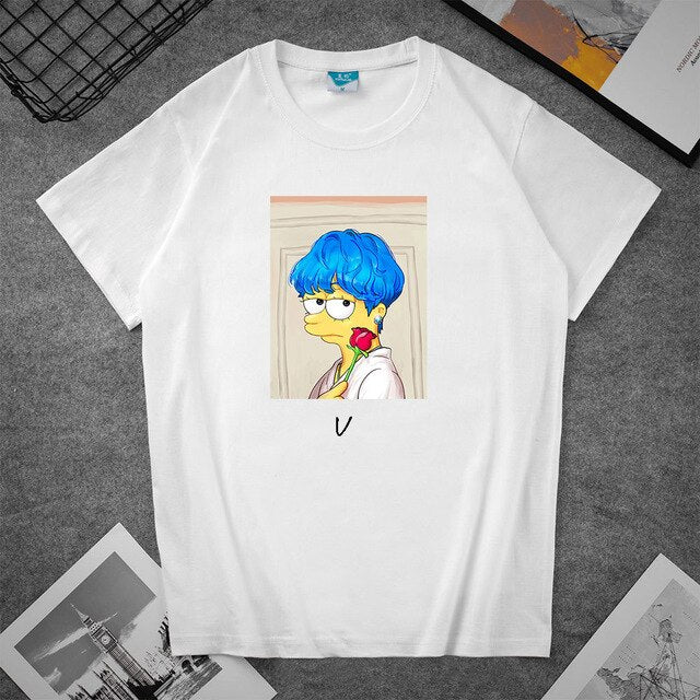 Kpop Style Graphic Printed T-Shirt