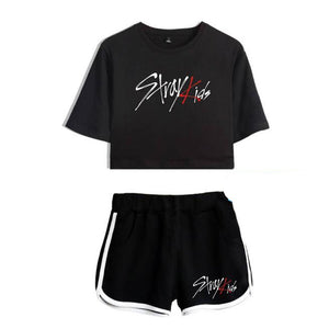 Stray Kids Crop Top and Shorts Set