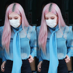 Blackpink Rose Sheer Top and Pants