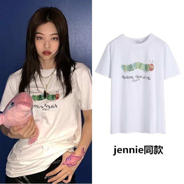 Blackpink Jennie Kawaii Printed T-Shirt