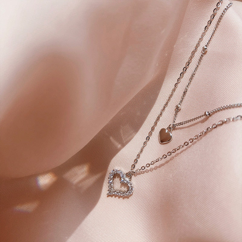 Double Layer Heart Necklace