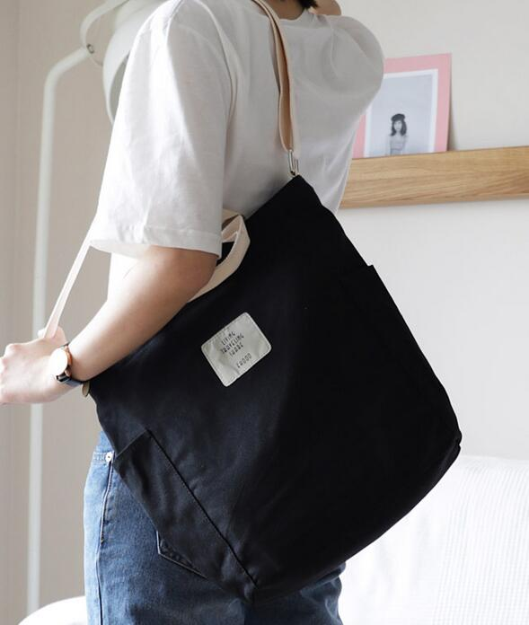 Korean Canvas Shoulder Bag