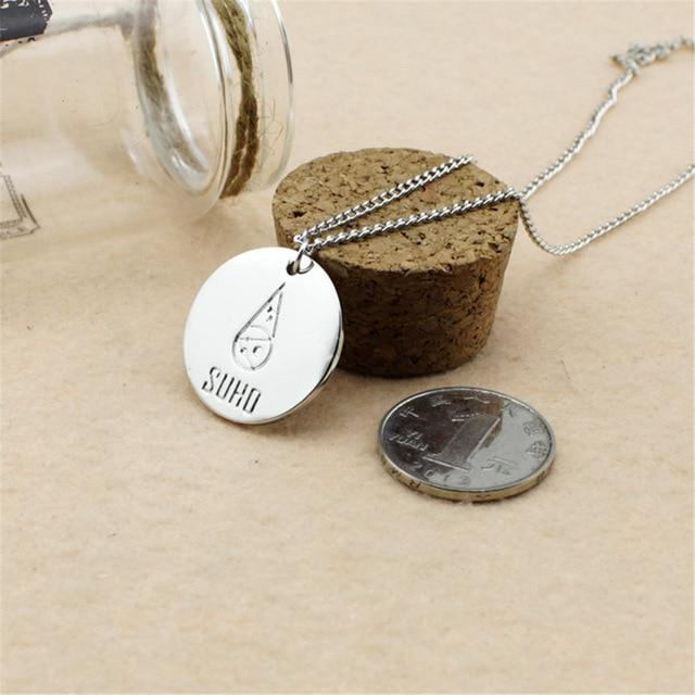 EXO Members Logo Pendant Necklace