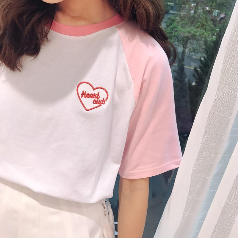 Heart Club Embroidered T-shirt