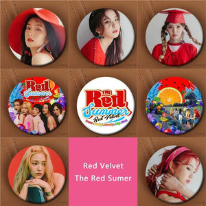 Red Velvet Button Pin