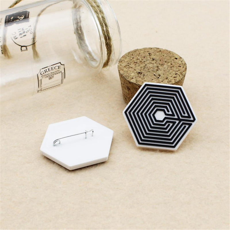 EXO EXO-K EXO-M Overdose Logo Badge Pin - 2pcs