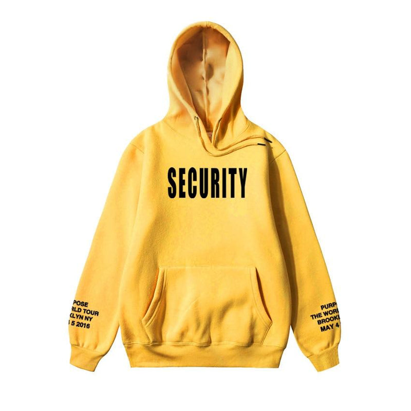 Yellow Security Hoodie