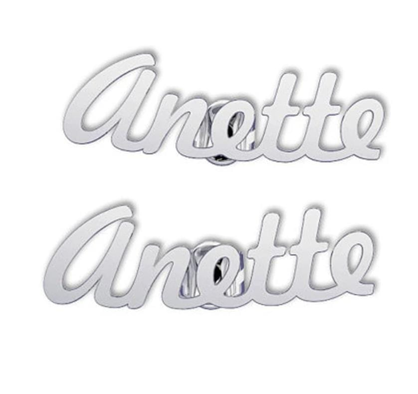 Personalized Name Stud Earrings For Women - Stainless Steel