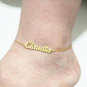 Custom Name Anklet Jewelry - Stainless Steel
