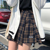 High Waist Plaid Skirt