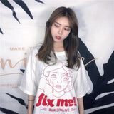 Loose Cartoon Print T-Shirt