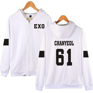 EXO Bias Name Zip Up Hoodie