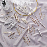 Vintage Simulated Pearls Hair Pin for Women