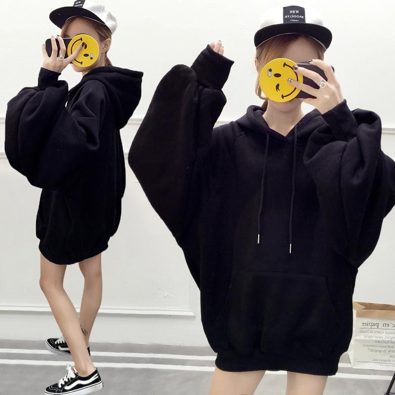 Solid Over sized Hoodie