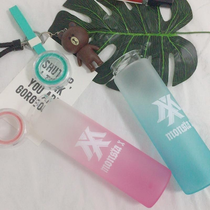 MONSTA X Frosted Glass Water Bottle