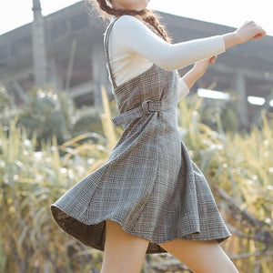 Women's Plaid Strap Dress