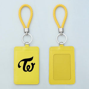 FREE TWICE Logo Leather ID Card Holder