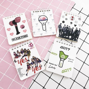 EXO BLACKPINK GOT7 TWICE SEVENTEEN Spiral Coil Notebook