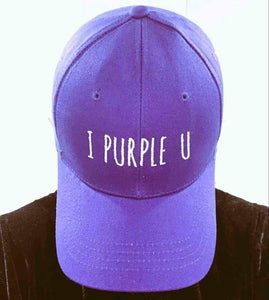 BTS I Purple U Baseball Cap